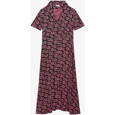 Riveramo floral-print woven midi dress