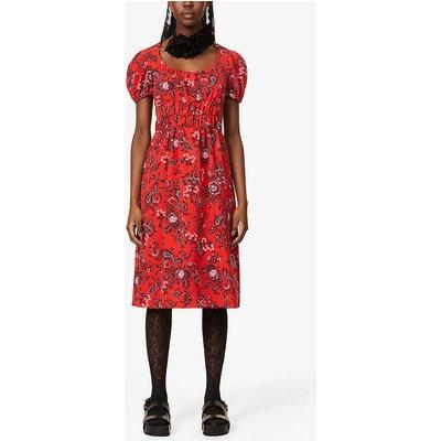 Tristan floral-print woven midi dress