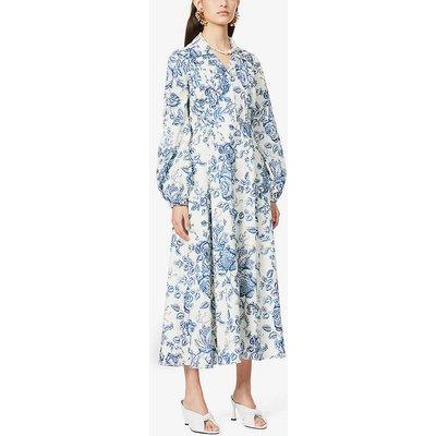 Kendrick floral-print cotton midi dress