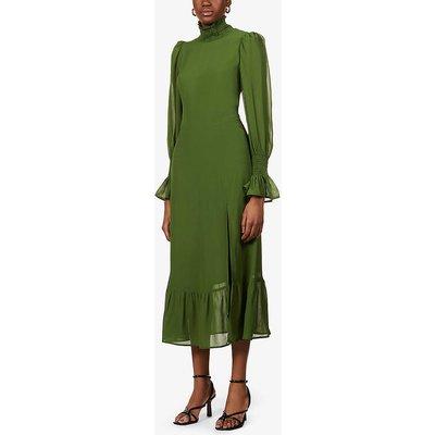 Galena tiered georgette midi dress
