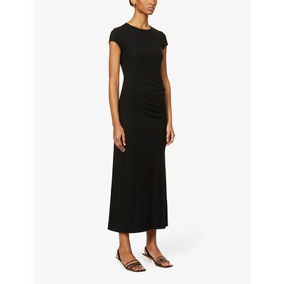 Brecken split-side stretch-jersey midi dress