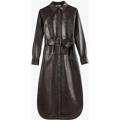 Bowsiey leather midi dress