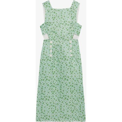 Ashley linen and silk-blend midi dress