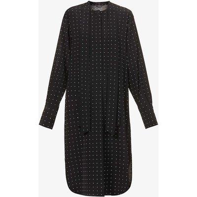 Doriane polka-dot silk midi dress