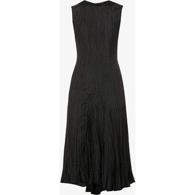 Habotai Desvigne crinkled silk midi dress