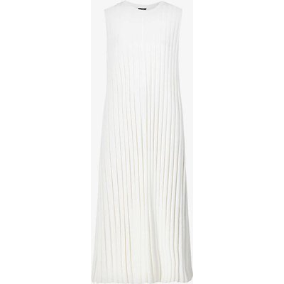 Ribbed stretch-woven midi dress