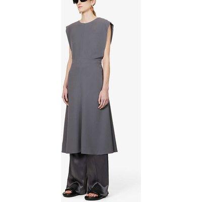 Delannoy V-back crepe midi dress