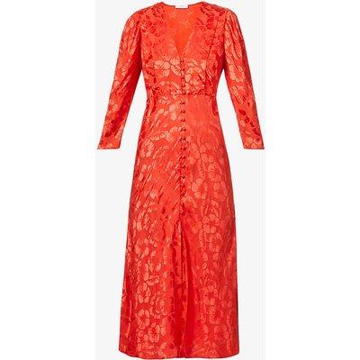 Azel floral-print woven midi dress