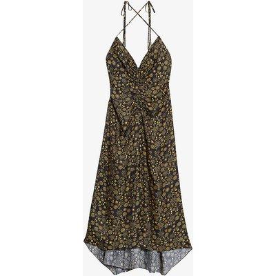 Carolina floral-print woven midi dress