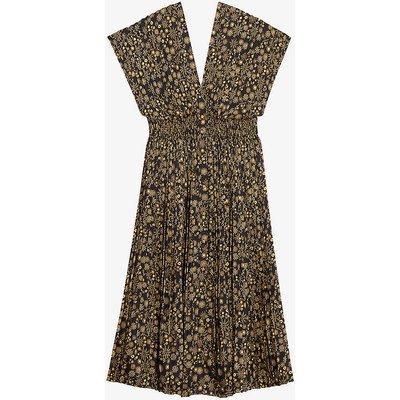 Vienne floral-print sleeveless midi dress