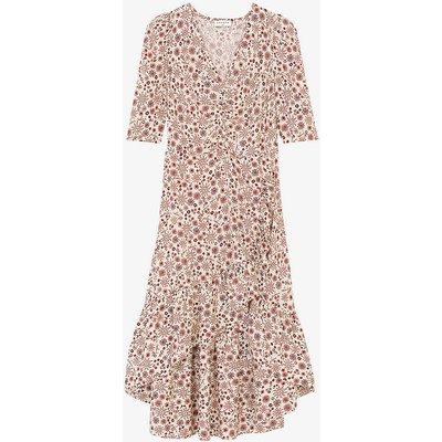 Trinidad floral-print asymmetric midi dress