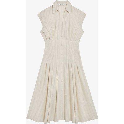 Andrina striped woven midi dress