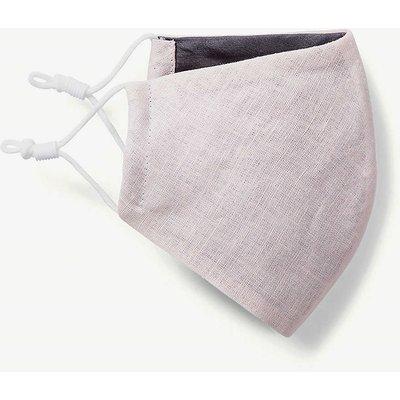 Reusable silk-lined linen face mask
