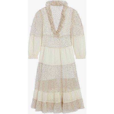 Frida polka-dot oversized silk midi dress