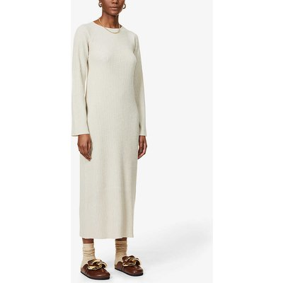 Ribbed wool and cashmere-blend midi dress