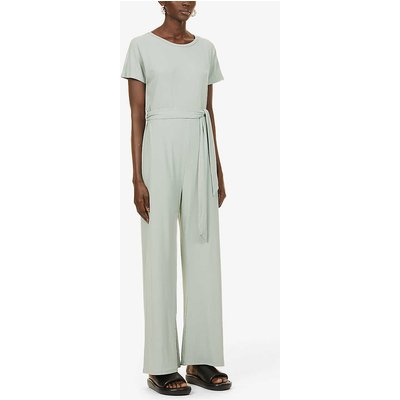 Claud belted stretch-jersey jumpsuit