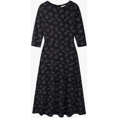 Starburst printed stretch-jersey midi dress