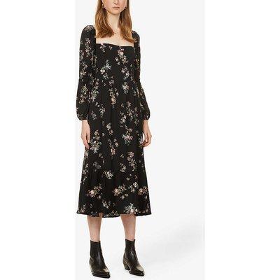 Mica floral-print crepe midi dress