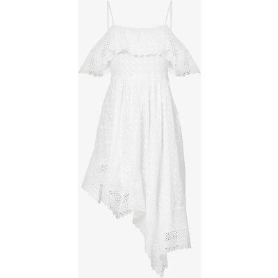 Timoria ruffle-trimmed cotton midi dress