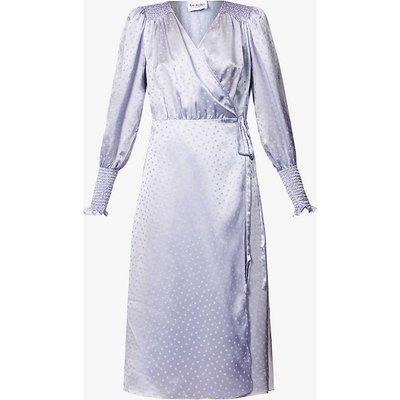 Kate polka-dot silk midi wrap dress