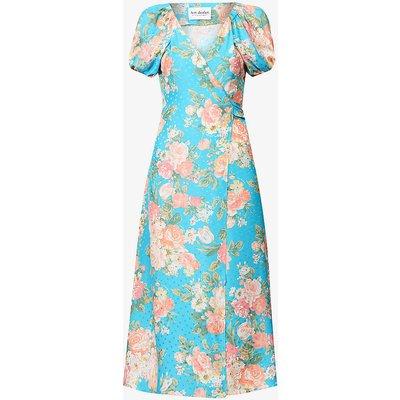 Elvira floral-print silk midi dress