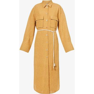 Fruma crinkled woven midi dress