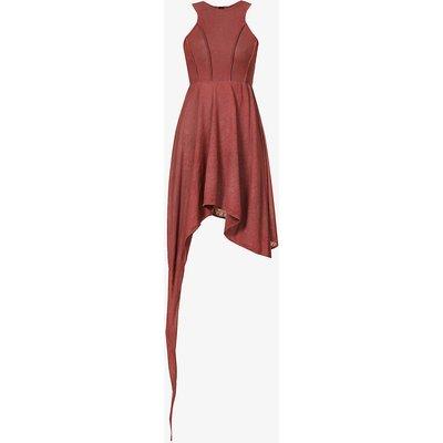 Asymmetric cotton midi dress