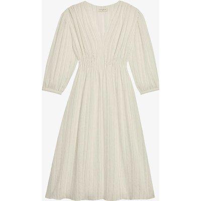 Rome striped woven midi dress