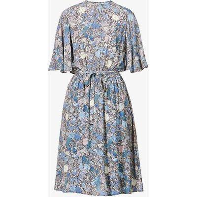 Rhone Wild Garden floral-printed woven midi dress