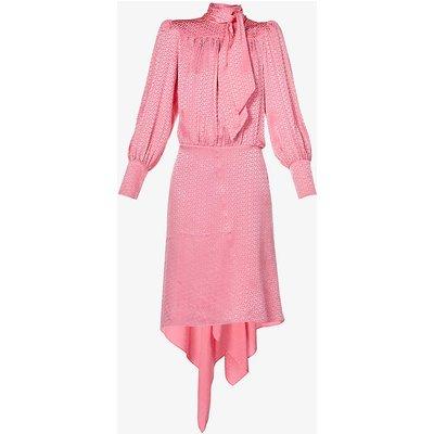 Rire high-neck silk-jacquard midi dress