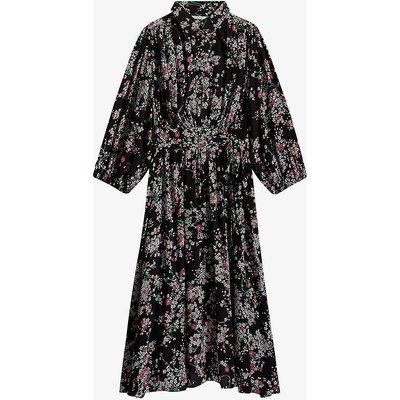 Rikva floral-print crepe midi dress
