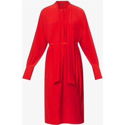 Doriane silk-crepe midi dress