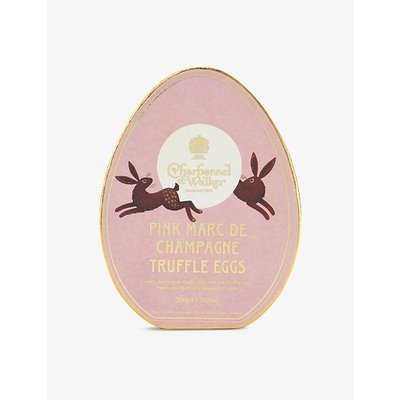 Pink Marc de Champagne chocolate truffle egg box 200g