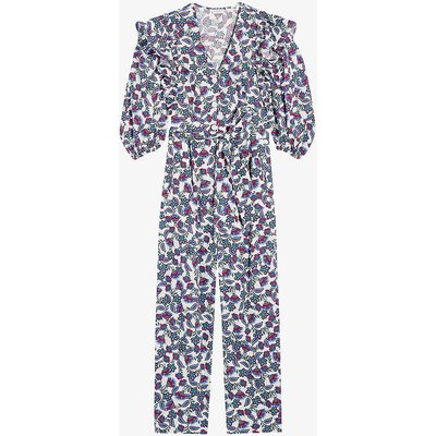 Justice floral print cotton jumpsuit
