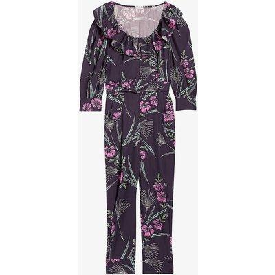 Jasmine floral-print organic cotton jumpsuit
