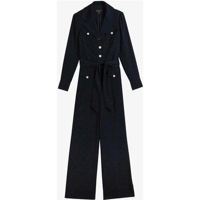 Devonna wide-leg utility woven jumpsuit