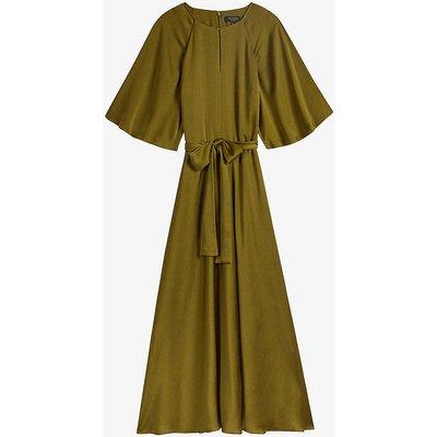 Hariet round-neck woven midi dress