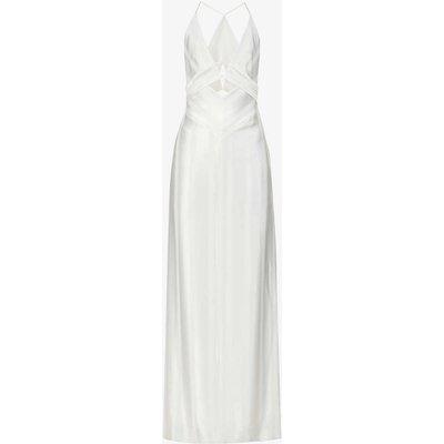 Prism cut-out crepe maxi dress