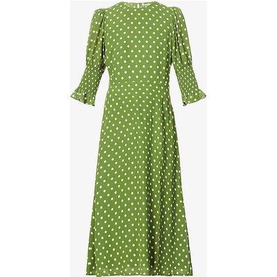 Carolena polka dot-print midi dress
