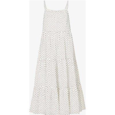 Aftersun polka dot-print organic cotton-blend beach dress