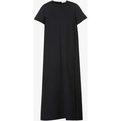 Carolina round-neck stretch-crepe maxi dress