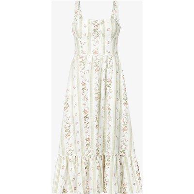 Maegan floral-print linen midi dress