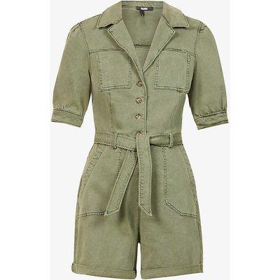 Mayslie short-sleeved cotton-blend jumpsuit