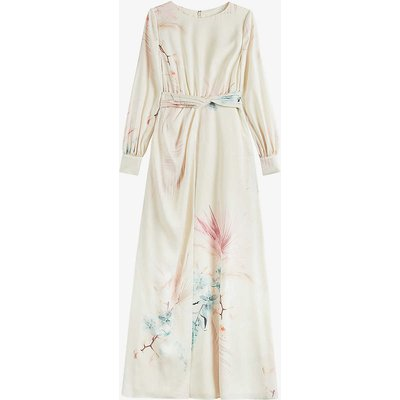 Rioni floral-print stretch-crepe maxi dress