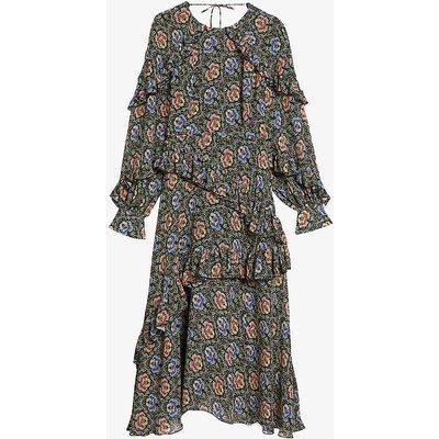 Tedi floral-print woven midi dress