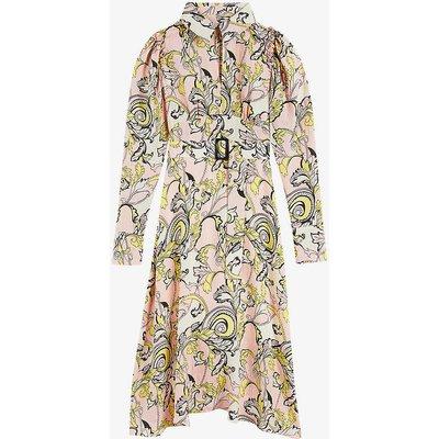 Flowse floral-print silk midi dress