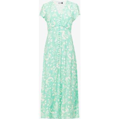 Aspen graphic-print woven midi dress