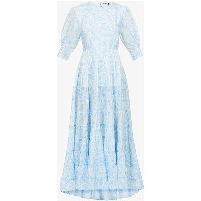 Agyness cotton and silk-blend midi dress