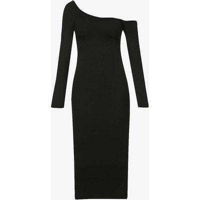 Off-the-shoulder stretch-jersey midi dress