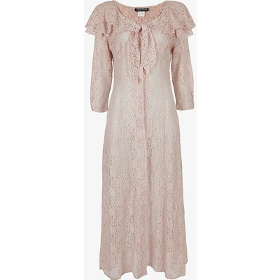 Pre-loved sheer lace midi dress